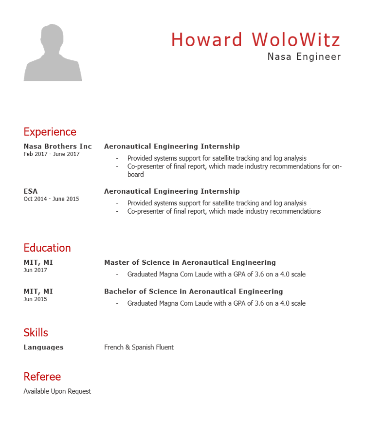 Engineer Cv Template
