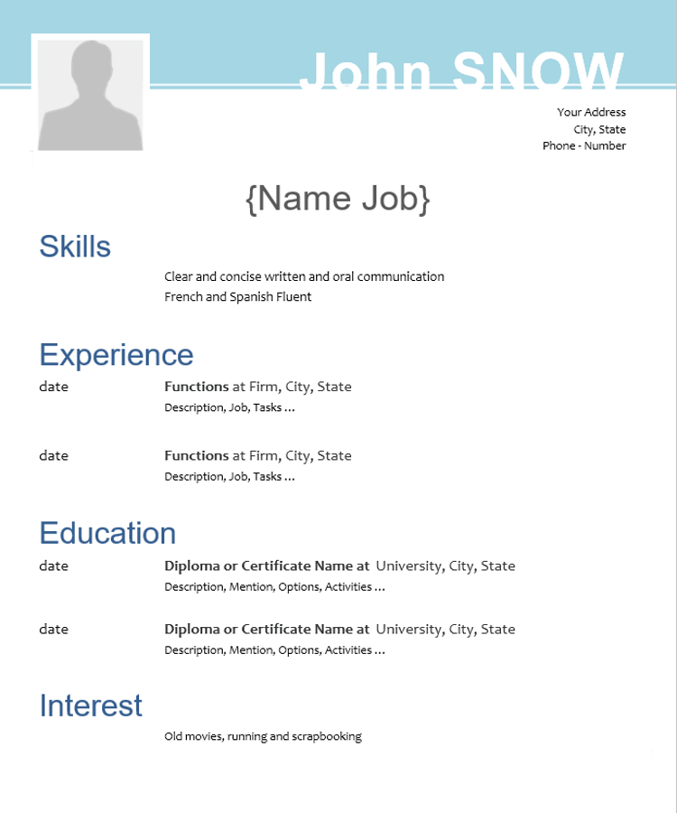 Eye Catching Graphic Cv Template